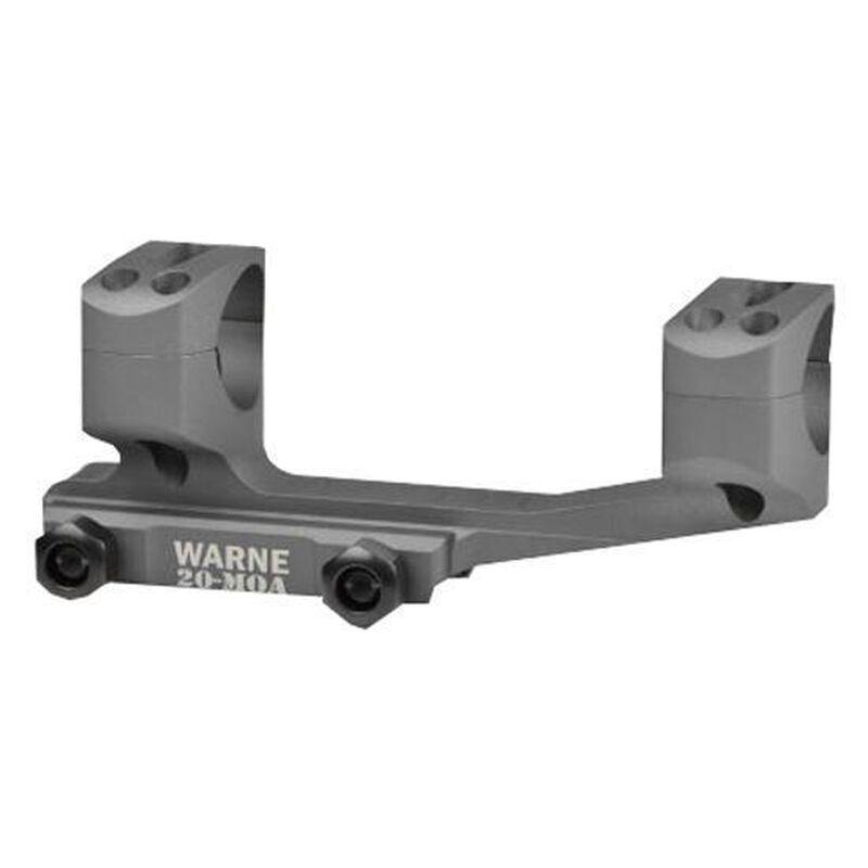 "Warne Scope Mounts Gen 2 Extended SKEL One Piece MSR/AR-15 Skeletonized Scope Mount 1"" Tube Diameter 20 MOA Lightweight 6061 Aluminum Matte Black"