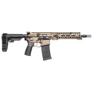 "POF USA Renegade Plus 5.56 NATO Semi Auto Pistol 10.5"" Barrel 30 Rounds Direct Gas Impingement System M-LOK Free Float Rail SB Tactical Arm Brace Burnt Bronze Finish"