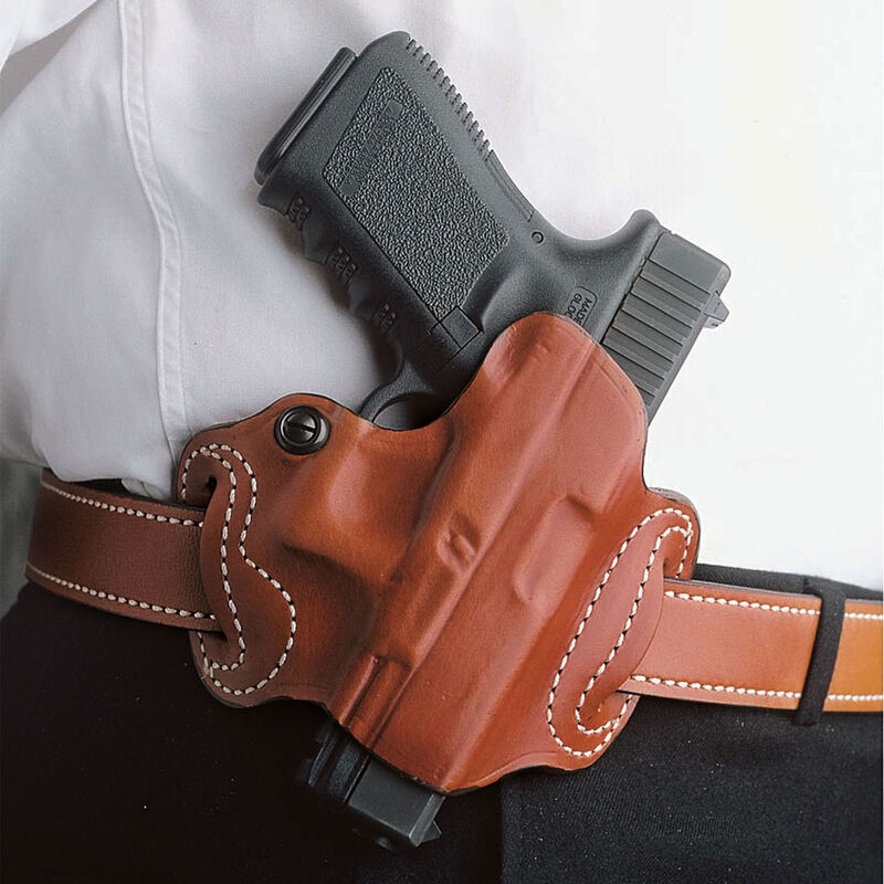 "DeSantis Thumb Break Mini Slide OWB Fits Springfield XDS Belt Holster 1.75"" Belt Right Hand Leather Tan"