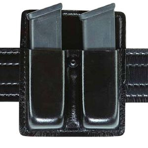 Safariland Model 73 Double Magazine Pouch without Flaps GLOCK 20, 21 H&K USP Plain Finish Black 73-383-13