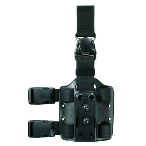 Safariland 6005-6 Double Strap Leg Shroud w/ Quick Release Leg Strap Polymer/Nylon Black