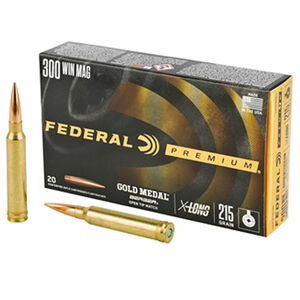 Federal Gold Medal Berger 300 Win Mag Ammunition 215 Grains Berger 2850 fps