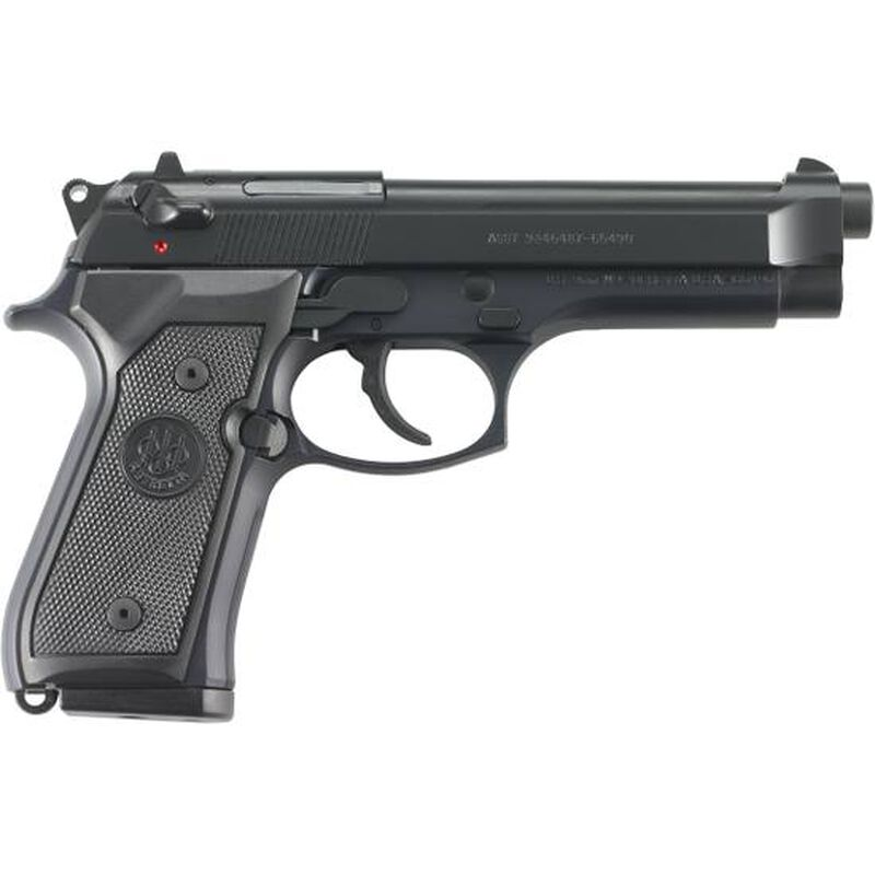 """Beretta M9 Commercial Semi Automatic Pistol 9mm Luger 4.9"""" Barrel 10 Rounds Polymer Grips Black Finish J92M9AO"""