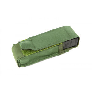 Blue Force Gear Single Pistol mag Pouch  Classic style with flap (Also fits lights, multitools) - OD Green HW-M-PISTOL-1-OD