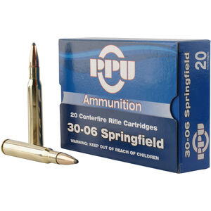 Prvi Partizan .30-06 Spring Ammunition 20 Rounds 150 Grain SP Bullet 2910fps