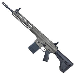 "LWRC R.E.P.R MKII Semi Auto Rifle 7.62 NATO 16"" Spiral Fluted Barrel 20 Rounds Free Float Hand Guard Magpul Stock and Grip Gray"