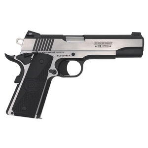 "Colt 1911 Combat Elite Government Model Semi Auto Pistol 9mm Luger 5"" Barrel 9 Rounds Ambidextrous Safety Novak Night Sights G10 Grips Two Tone Finish"