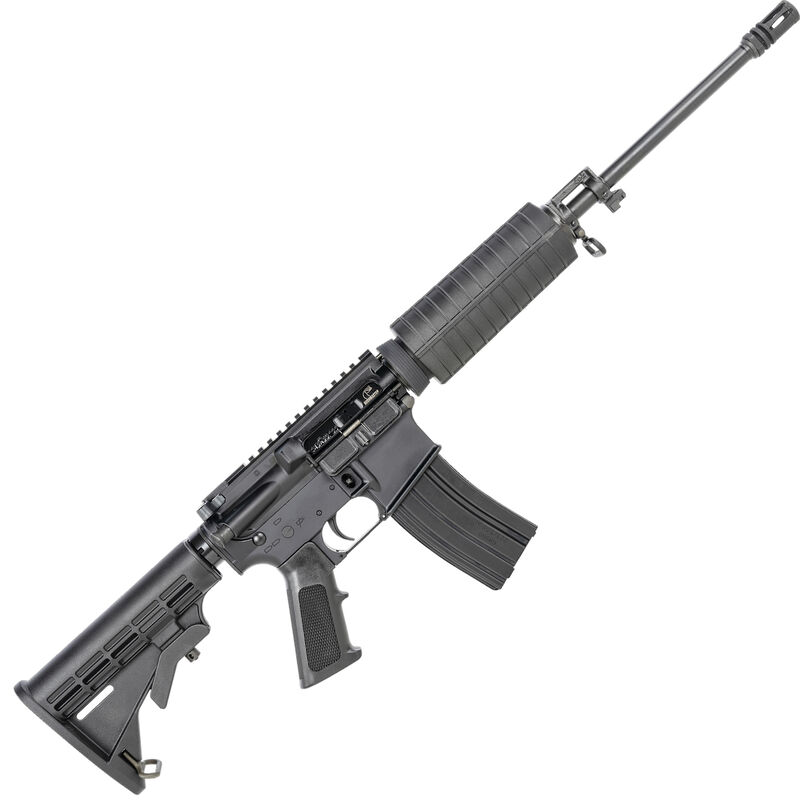 "Bushmaster QRC AR-15 Semi Auto Rifle 5.56 NATO 16"" Barrel 30 Rounds Optics Ready Collapsible Stock Black"