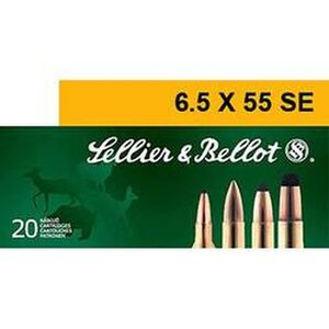 Sellier & Bellot 6.5x55mm Swedish Ammunition 20 Rounds SP 131 Grains SB6555A