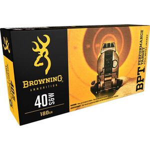Browning BPT .40 S&W Ammunition 50 Rounds FMJ 180 Grains B191800401