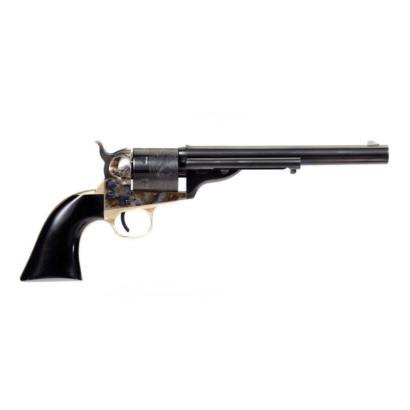Taylors And Company Cavalier Open Top Revolver Single Action 38 Special 7 5 Barrel 6 Rounds Color Case Hardened Black Polymer Grip Cheaper Than Dirt