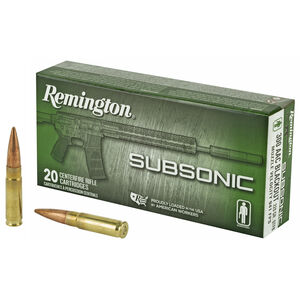 Remington Subsonic .300 AAC Blackout Ammunition 220 Grain OTFB Projectile Subsonic 940fps