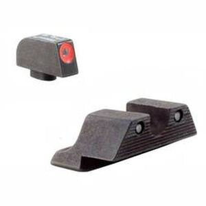 Trijicon HD Night Sight Set For GLOCK Three Dot Tritium Green with Front Dot Orange Outline Matte Black GL101O