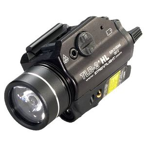 Streamlight TLR-2 HL LED Weaponlight and Red Laser 630 Lumen 2x CR123A Batteries Toggle Switch Picatinny Mount Aluminum Black 69261