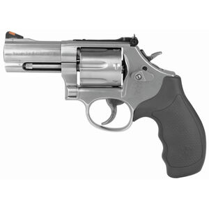 "S&W Model 686 Plus .357 Magnum Revolver 3"" Barrel 7 Rounds Adjustable Sights Synthetic Grips Satin Stainless Finish 164300"