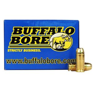 Buffalo Bore .40 S&W +P Ammunition 20 Rounds FMJ-FN 180 Grain 23C/20