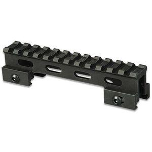 """Lion Gears AR-15 Tactical 1"""" Riser Mount 12 Slots 5"""" Long Aluminum Black BM1210"""