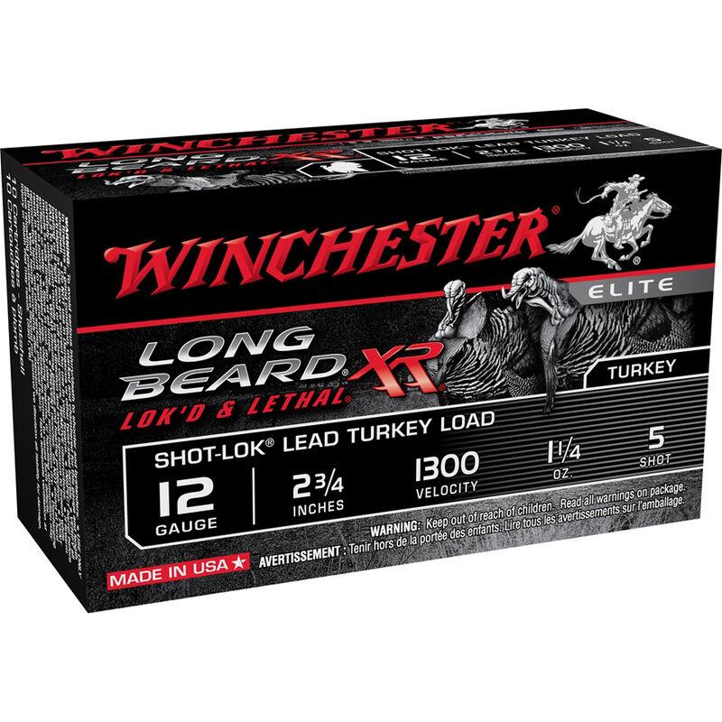 "Winchester Long Beard XR 12 Gauge Ammunition 100 Rounds 2.75"" #5 Plated Lead 1.25 Ounce STLB125"