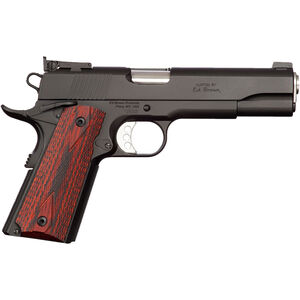 "Ed Brown Executive Target Gen-4 1911 Semi Auto Pistol .45 ACP 5"" Barrel 7 Rounds Laminate Wood Grips Low Glare Black"