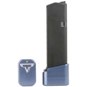 Taran Tactical Innovations +4/+5 GLOCK 19/23 Firepower Base Pad Kit Titanium Blue