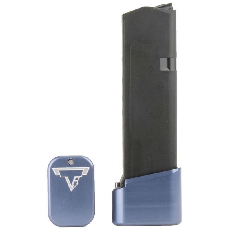 Taran Tactical Innovations +4/+5 GLOCK 19/23 Firepower Base Pad Kit Titanium Blue