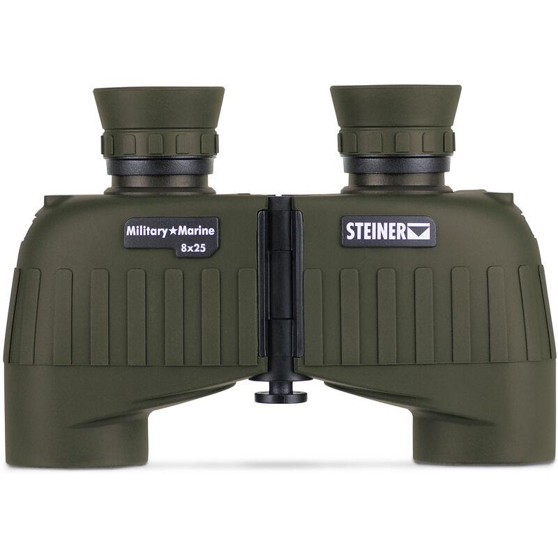 Steiner Military/Marine MM825 Binoculars 8x25mm Mini-Porro Floating Prism System Makrolon Housing NBR Rubber Armor OD Green