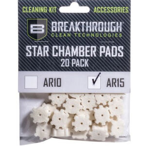 Breakthrough AR-15 Chamber Star Pad 20 Pack with Adapter