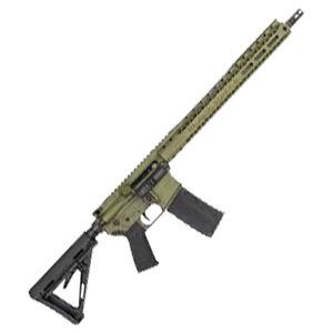 "Black Rain Ordnance AR15 5.56 NATO Semi-Auto Rifle 16"" Barrel 30 Rounds Flat Top Optics Ready Magpul MOE Stock Bazooka Green Battleworn Finish"
