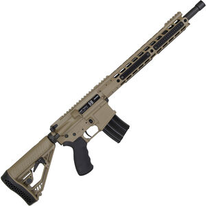 """Alexander Arms Tactical Rifle .50 Beowulf AR-15 Semi Auto Rifle 16.5"""" Threaded Barrel 7 Rounds Manticore Handguard Collapsible Stock FDE Finish"""