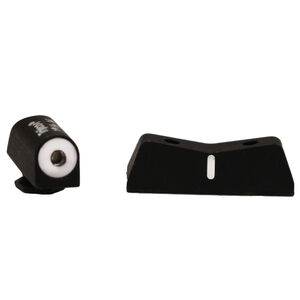 XS Sight Systems DXW Big Dot Night Sights GLOCK 42/43 Green Tritium Front/Solid White Rear Matte Black