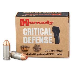 Hornady Critical Defense .40 S&W Ammunition 20 Rounds FTX HP 165 Grains 91340