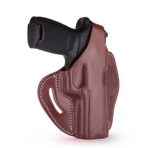 1791 Gunleather BHX-3 Dual Position OWB Thumb Break Belt Holster Full Size Semi Auto Models Right Hand Draw Leather Signature Brown