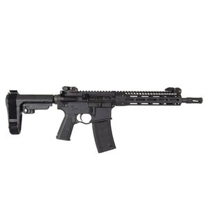 "Troy Defense A4 Pistol 5.56 NATO AR-15 Semi Auto Pistol 10.5"" Barrel 30 Rounds M-LOK Free Float Hand Guard SBA3 Pistol Brace Matte Black"