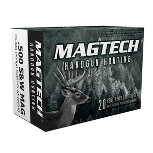 Magtech .500 S&W Ammunition 20 Rounds SJSP-FN 400 Grains 500A