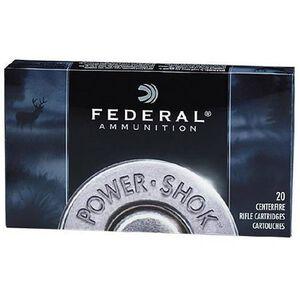 Federal Power-Shok 7x57mm Mauser Ammunition 20 Rounds JSP 140 Grains 7B
