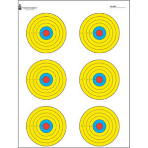 "Action Target High Visibility Fluorescent 6 Bull's-Eye Target 17.5""x23"" Paper Target 100 Pack"