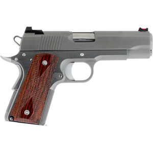 """Dan Wesson 1911 Pointman Carry PM-C .45 ACP Semi Auto Pistol 4.25"""" Barrel 7 Rounds DW CCO Profile FO Front Sight Wood Grips Brushed Stainless Finish"""
