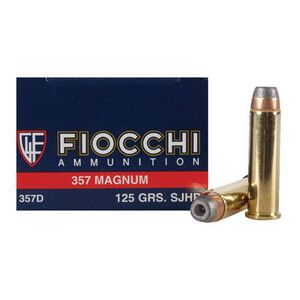 Fiocchi Shooting Dynamics .357 Magnum Ammunition 50 Rounds JHP 125 Grains 357D