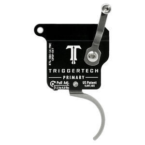 Trigger Tech Remington 700 Primary Drop In Replacement Trigger Left Hand/No Bolt Release/Curved Lever Stainless Steel Finish