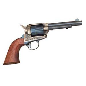 "Cimarron Model P Junior Revolver .38 Special 4.75"" Barrel 6 Rounds Wood Grips Case Hardened Finish"