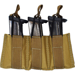 Tac shield Triple Speed Pistol Mag Pouch Coyote 500D Nylon