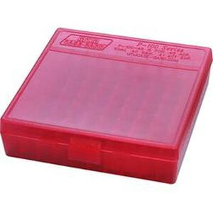 MTM P-100 Flip Top Ammo Box 45ACP/40S&W 100rds Clr Red