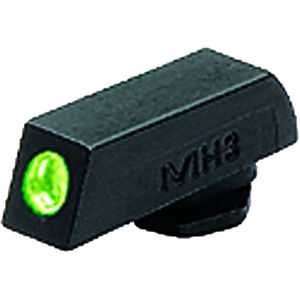 Mako Group Meprolight Tru-Dot Night Sight GLOCK 17/22/31/37 Front Sight Green Tritium Enhanced Black