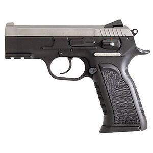 """EAA Witness P Carry Semi Auto Handgun .9mm Luger 3.6"""" Barrel 10 Rounds Black Polymer Grips Stainless Finish 600246"""