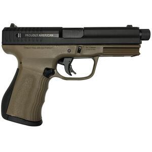 "FMK Firearms 9C1 Elite Compact Semi Auto Pistol 9mm Luger 4.5"" Threaded Barrel 14 Rounds Optic Ready Slide Standard Sights Picatinny Rail Textured Polymer Frame Burnt Bronze Finish"