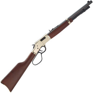 """Henry Big Boy Carbine Lever Action Rifle .327 Federal/.32 H&R Mag 16.5"""" Octagon Barrel 7 Rounds Brass Receiver Large Loop Lever Walnut Stock Blued Finish"""