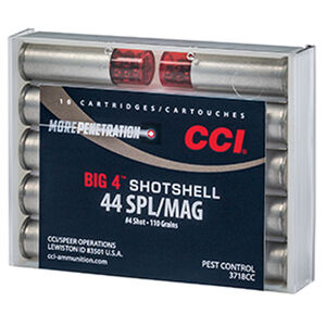 CCI .44 Special/.44 Magnum Ammunition 10 Rounds Shotshell #4 Lead Shot