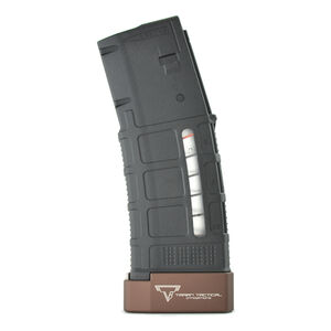 Taran Tactical Innovations Firepower Base Pad Magpul AR-15 PMAG Magazine Extension +5 Capacity Billet Aluminum Anodized Coyote Bronze Finish