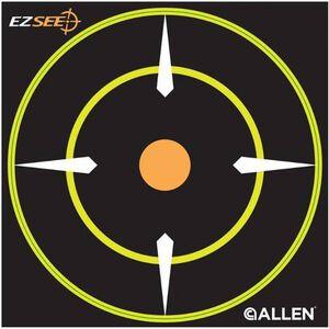 """Allen EZ See Adhesive Bullseye Target 12 Targets Per Pack 6"""" x 6"""" 15226"""