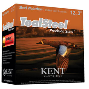 "Kent Cartridge TealSteel 12 Gauge Ammunition 250 Rounds 3"" #6 Steel 1.25 Ounce KTS123366"